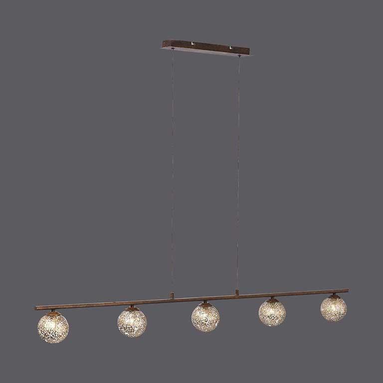 Paul Neuhaus Deckenleuchte Greta 5-flg Drahtgeflecht Landhaus Lampe Leuchte