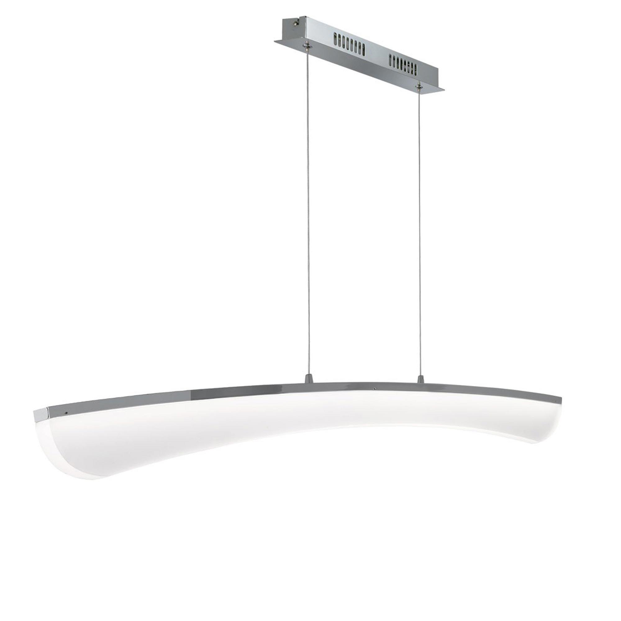 wofi led pendelleuchte comte 1 flg nickel acrylglas. Black Bedroom Furniture Sets. Home Design Ideas