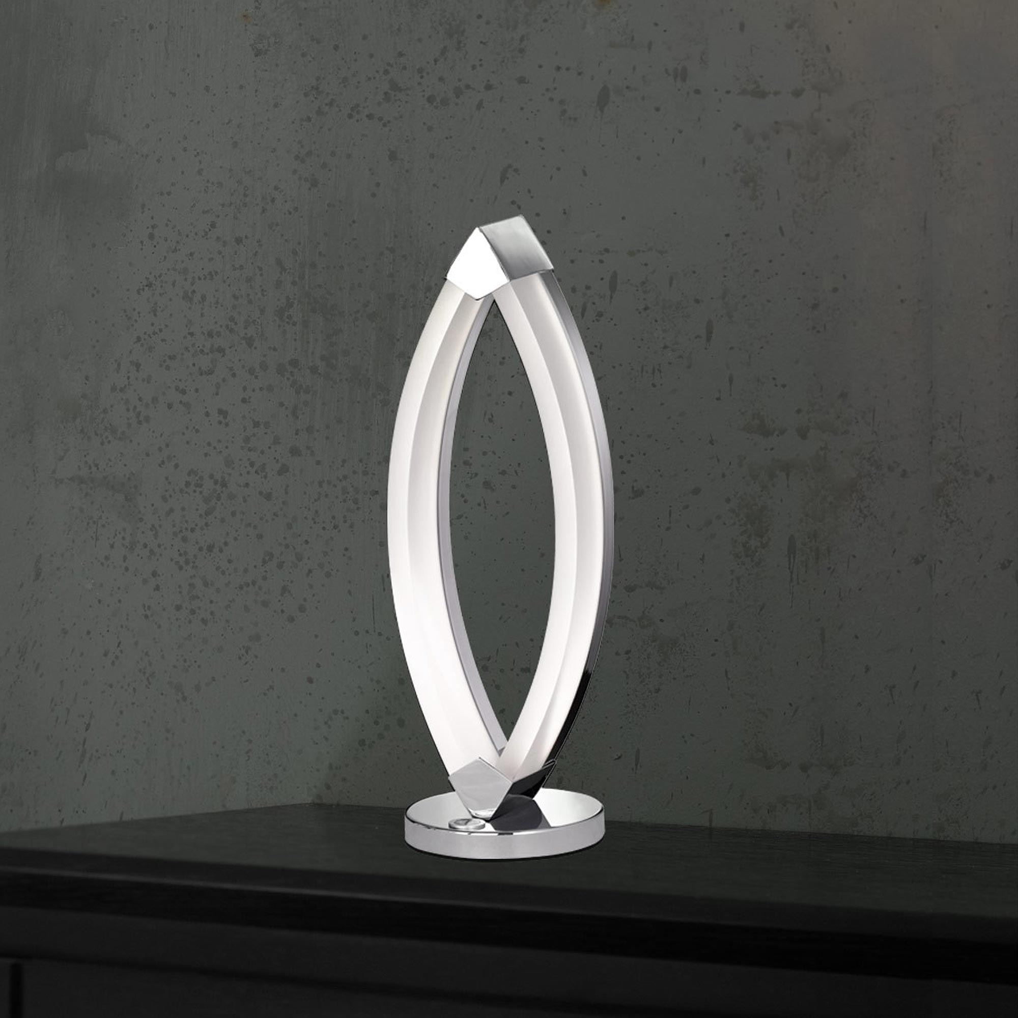 Wofi led tischleuchte vannes chrom 3 stufen touch dimmer for Moderne dekorationsartikel