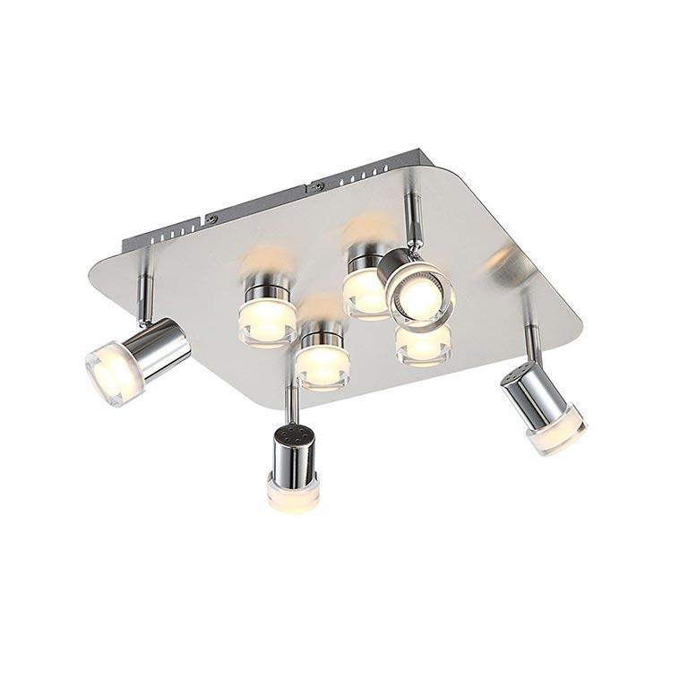 wofi led deckenleuchte antibes 8 flg chrom fernbedienung 32 watt 3200 lumen ebay. Black Bedroom Furniture Sets. Home Design Ideas